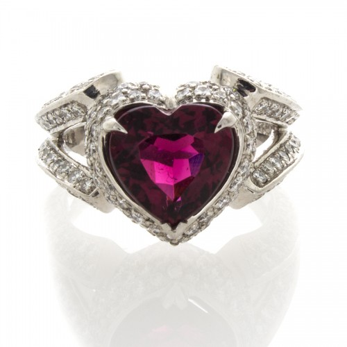 HEART SHAPE PINK TOURMALINE 3.31 CT