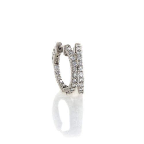 "3/4"" DIAMOND HOOP EARRINGS"