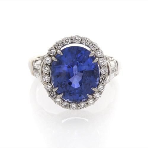 OVAL SAPPHIRE 6.03 CT