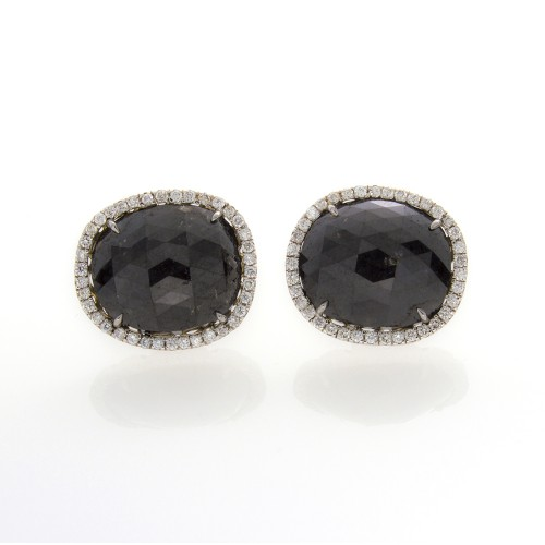 CUSHION CUT BLACK DIAMONDS 11.03 CTS