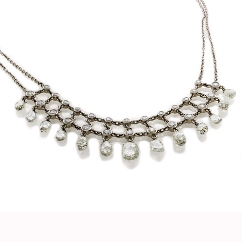 PLATINUM BRIOLETTE NECKLACE