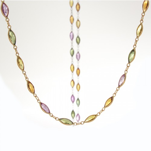 MULTI-SAPPHIRE MARQUISE NECKLACE