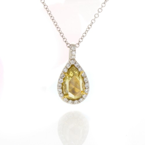 INTENSE YELLOW PEAR SHAPE 1.11 CTS