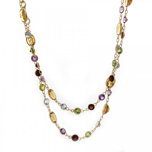 SEMI PRECIOUS GEMSTONE NECKLACE