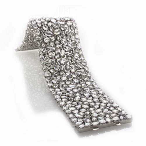 WHITE SAPPHIRE AND DIAMOND BRACELET