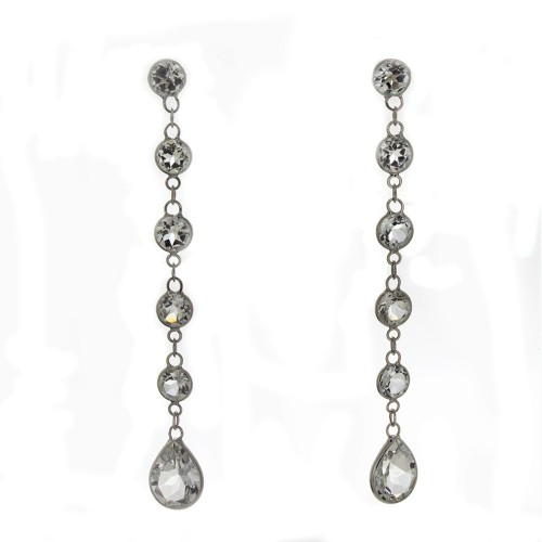 WHITE TOPAZ DANGLE EARRINGS